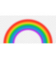 bright arched rainbow on transparent vector image