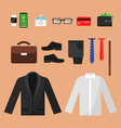business clothes fashion for office managers male vector image vector image