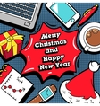 Christmas and New Year Business Greeting Card vector image vector image