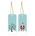 Christmas series Santa Claus and Christmas tree vector image