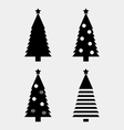 Christmas tree silhouette vector image vector image