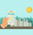 city navigation web banner flat vector image vector image