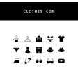 clothes glyph style icon set vector image vector image