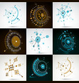 collection of abstract backgrounds created in vector image vector image