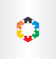 Color houses in circle icon