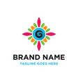 colorful logo initials g vector image
