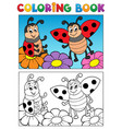 coloring book ladybug theme 2 vector image