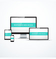 concept of responsive web design vector image vector image
