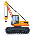 crane with hook to lift and transport items vector image