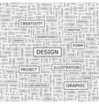 design word cloud with related tags and terms vector image vector image
