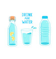 drink more water calling banner vector image vector image