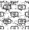 E-mail message pattern grunge monochrome vector image vector image