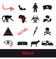 ebola disease icons set eps10 vector image vector image