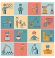 Engineering icons flat line vector image vector image