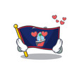 falling in love cute flag guam cartoon character vector image vector image