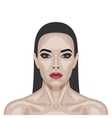 Fashion beauty brunette Woman with perfect Skin vector image