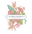 floral bouquet design with pastel gloriosa vector image vector image