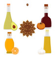 for set various bottles oil vector image vector image