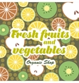 Fruits and Vegetables pattern vector image vector image