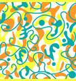 funky sunny abstract shapes seamless pattern vector image