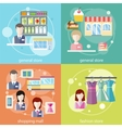 General store shopping mall and fashion store vector image