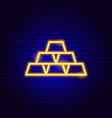 gold neon sign vector image