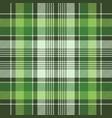 green irish check fabric plaid seamless fabric vector image vector image