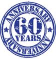 grunge 60 years anniversary rubber stamp