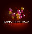 happy birthday holiday background vector image vector image