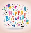 happy birthday kids greeting card vector image vector image