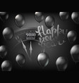 happy new year greeting card black classic clock vector image