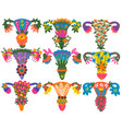 healthy female reproductive system with bright vector image vector image