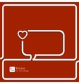 Heart Icon Speech Bubbles and Chat symbol vector image vector image
