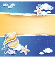 holidays background with sea and sand vector image