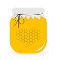 honey jar pot icon honeycomb set in shape of vector image