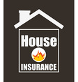 house insurance design vector image vector image