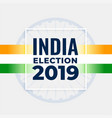 indian election concept poster design vector image vector image