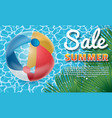 inflatable ball banner2 vector image vector image