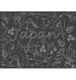 Japan chalk vector image