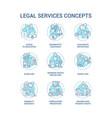 legal services concept icons set vector image