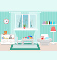 living room interior including armchair coffee vector image vector image
