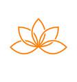 lotus artistic line symbol design vector image