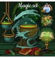 Magic set of tools for witchcraft and spells vector image vector image