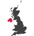 map of united kingdom - northern ireland vector image