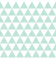 mint green triangles and leaves texture vector image vector image