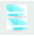 Modern business card template with polygonal mesh vector image