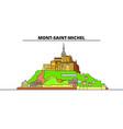 mont-saint-michel and its bay line travel landmark vector image