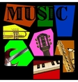 music background of the segments vector image vector image