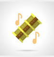 musical reed pipes flat color icon vector image vector image