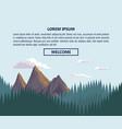 nature landscape infographic vector image